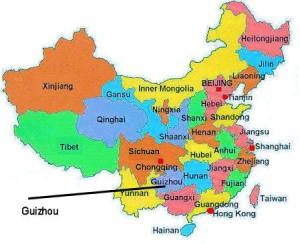 I live in the capital of Guizhou province; Guiyang
