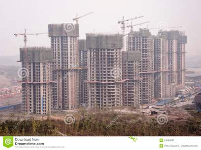 It is common to see several new buildings come up, all at once.  We've seen up to 7 cranes side by side, adding onto Guiyang