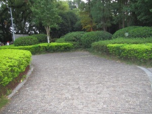 Beautiful paths leading to the river.  The gardens are well kept here.