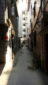 We had to walk down this alley to get to the hostel.  It was a tad disheartening at first, and made us wonder about the hostel we'd booked...