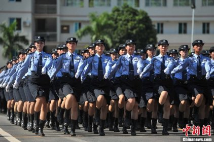 Even Police Women wear skirts!  Appearance here is so important for women, that I worked with a girl who had been rejected from a Chinese airline when she applied for a job as a flight attendant.  The reason: her ears stick out too far from her head.