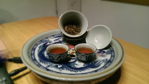 Tonight we are enjoying some red tea.  It has a sharper taste and a darker colour
