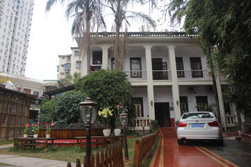 The hostel where we stayed our two nights on Xiamen Island