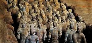The Terracotta Warriors were buried with an emperor in 210 BCE. They were discovered in the 1970s by a farmer, and are still being unearthed now. Each warrior was caste in the image of a real person, making the collection unique and about as amazing of an archeological discovery that we can hope to find
