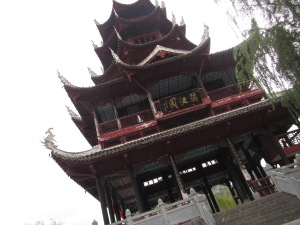 One of several pagodas in Zhenyuan