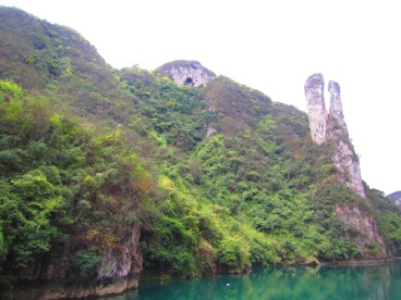 The most famous rock formation near Zhenyuan.