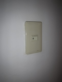 The same light switch after approximately 30 seconds of work...