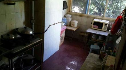 What our kitchen originally looked like.  Notice the grease stains on the far left wall?  Yeah...that was basically everywhere...