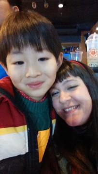 Steven and I.  This kid is so sweet...