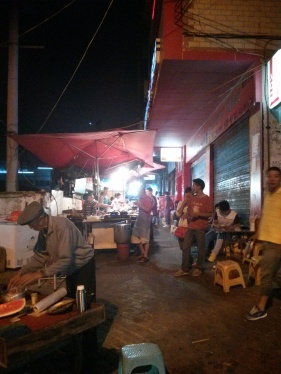 The night market where we go for bbq. I often go by this alley when I go for walks at night