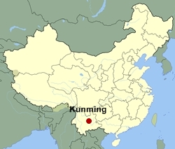 Kunming is the capital of Yunnan province, which sits to the south west of Guizhou, where we live.  It's known as 'Spring City' due to its beautiful weather and abundant floral displays