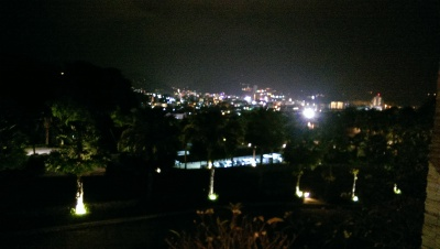 The view was also beautiful at night.  Patong town is in the distance and there were often fireworks to enjoy