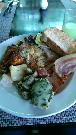 The breakfast buffet at our resort was incredible every day!  Real bacon, proper bread and perfectly poached eggs!!!!