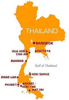 Here is a map of Thailand.  We were in Phuket, an island off the south west coast of Thailand.  Patong Town is located on Phuket.