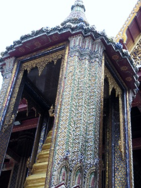 Similarly, this building is covered in small stones..it isn't just paint that makes it look so ornate...