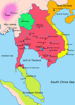 The Cambodian Empire from the 9th-15th centuries...