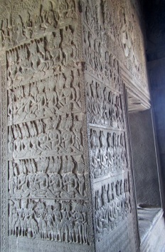 But saw these carvings depicting stories from the Hindu Vedas a few minutes later