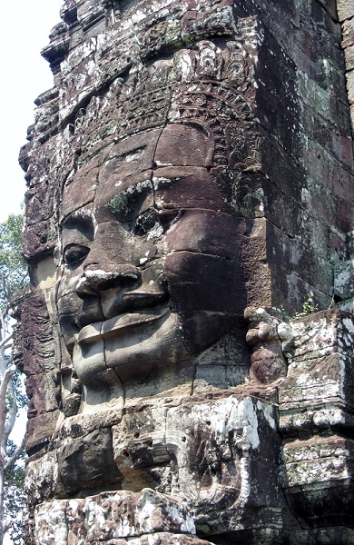 Every tower at Bayon Temple has a beautiful Buddha face carved into it.