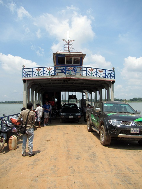 The ferry we took to get across the Mekong