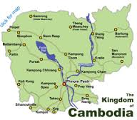 Kratie is located right on the Mekong River.