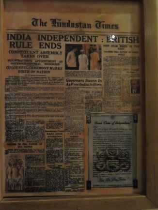 A newspaper announcing India's Freedom