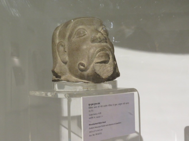 This carving is 4000 years old! It depicts a foreigner and it is one of the earliest discovered pieces of art using this specific technique. The artist began to polish the stones in a different way to give it a shine and make the art more life like