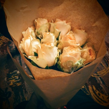 The roses I received when our performance was done :)