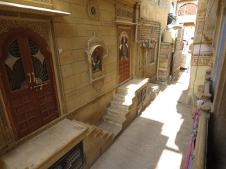 A view of the alley from inside the haveli