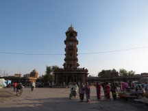 The clock tower, where all the action is at in Jodpur proper