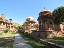 A garden of temples in Jodpur