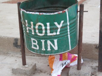 There is hope for Varanasi though...trash bins are being placed all along the ghats. Now the struggle the government faces: getting people to USE them...