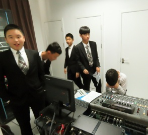 The sound guys from Elite 1 Boys. This was these guys' first Drama festival and they were a little less organized than I'd hoped. Samuel is the kid covering his face...He's in Grade 8 and was losing his patience with the excited boys! lol