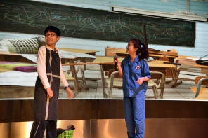 The heroes of the play: The janitor and Chef