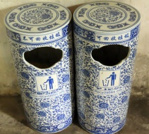Pretty garbage cans