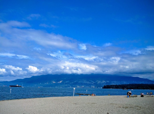 Our first view of Kits Beach