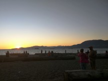 Kits beach at sunset