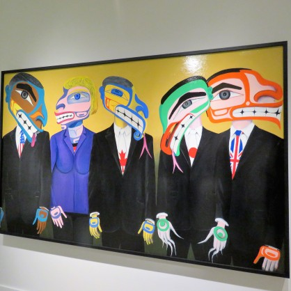 This artist's work was interesting...he was very critical of the government's treatment of the earth. Can you guess who he was representing in this painting?