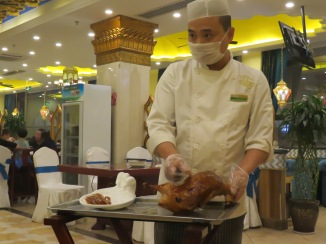 We found some fantastic Peking duck in Xi'an as well!