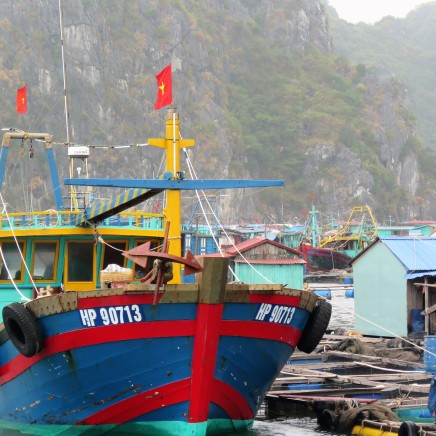 Fishing villages like this are found all over south east Asia. The most famous ones are Vietnamese
