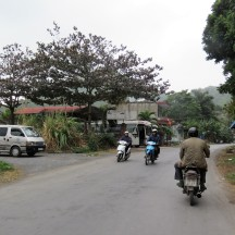 Like everywhere in Vietnam, Motorbikes are the primary means of transportation