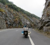Of course, we passed overloaded motorbikes along the way!