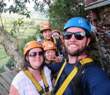 Ziplining in Laos