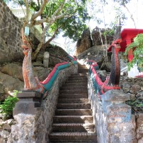 These steps went up to the temple with the weird rocks