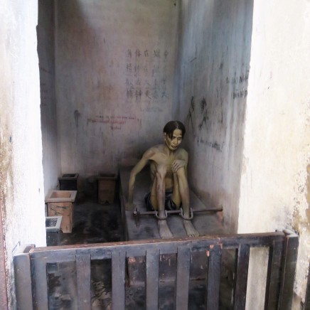 A model of one of the prisons where the Vietnamese POWs were kept