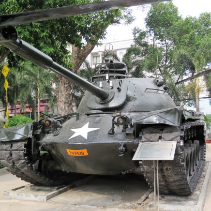 One of the many tanks used during the Vietnam war