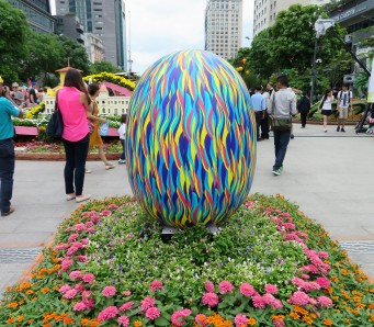 The eggs were my favourite thing there. It's now the year of the chicken so everything was sort of Easter themed haha!