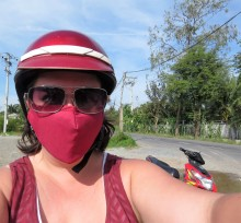 A helmet protects your head...one of these fancy masks protects your lungs