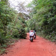 These guys passed us, going WAY too fast on the loose dirt road. We passed them a few minutes later because one of them had lost control of their motorbike and wiped out