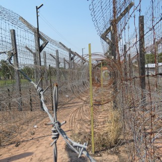 Layers of barbed wire kept prisoners in