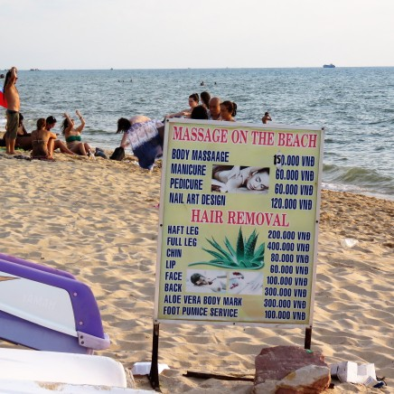 I had a couple of massages on the beach. You'd be amazed at the quality of massage you can get here for such little money!!